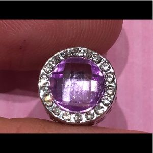 Jewelry - NEW•Pink crystal/Oct birthstone spacer charm